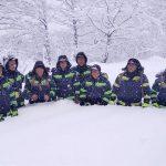 მეხანძრე-მაშველების ჯგუფის ფოტო, რომელიც გომის მთის სამაშველო-სამძებრო ოპერაციაში იყო ჩართული