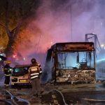 ვიდეო: ისრაელში ჩამოვარდნილი ბომბი ავტობუსს დაეცა
