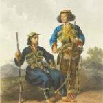 ფრანც ტეიხელის XVIII საუკუნის პირველი ნახევარის ილუსტრაცია - მეგრელი და გურული
